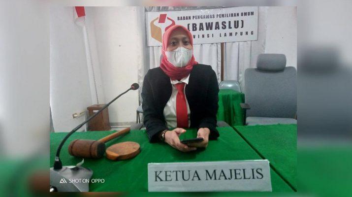 Bawaslu Provinsi Lampung Gelar Sidang TSM Pilkada